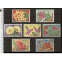Eq. GUINEA 1976-3677 Flowers - 7 used stamps complete set