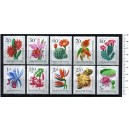 HUNGARY 1965-3570 Flowers  10 used stamps complete set