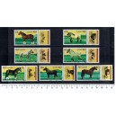 KAMPUCHEA 1989-515 Horses  7 stamps us. complete