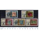 AJMAN 1966-72-76 Philatelic Exibition ovpt. 5 stamps MNG cpl set