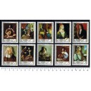 AJMAN 1968-190-99 Famous paintings  10 stamps MNG complete