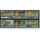 R.A.K. 1972-721-26 European Soccer - 6 stamps Mint complete s