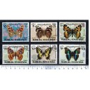 R.A.K. 1971-2226 Butterflies   6 stamps used complete set