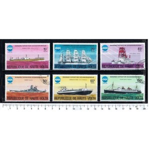 UPPER VOLTA 1975-3372 Ships & vessels - 6 values complete set cancelled