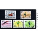 NIGER 1976-3601 Innsbruck's oly games  5 used stamps complete se
