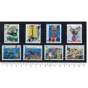 POLONIA 1971-2155 Children's paintings  8 stamps used complete