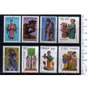 POLAND 1969-1821-28 Polish sculptures - 8 stamps mint complete set with out glue
