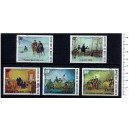 UPPER VOLTA 1975-3371 Famous paintings  5 stamps us cpl