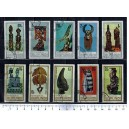 BOURUNDI 1967-2388 African Art  10 used stamps complete