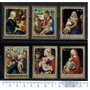 BOURUNDI 1970-3380 Christmas's paintings  6 used stamps complete