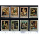 BOURUNDI 1968-3378 Nativity's paintings  8 used stamps complete