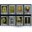 CENTRAFRICAN 1978-3754 Egiptian Art  8 stamps used complete