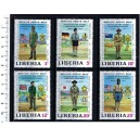 LIBERIA 1971-1888 Boys Scouts 6 used stamps complete set