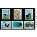 MAURITANIE 1979-3779 WWF-Animals  6 used stamps complete set
