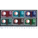 SHARJAH 1963-40-45 Red Crescent  6 val ** serie completa