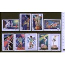 MONGOLIA 1974-3413 Circus's games   7 stamps used comple
