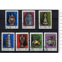 MONGOLIA 1974-3415 Local handcrafts  7 stamps used comple
