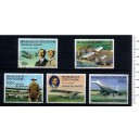 IVORY COAST 1977-3658 Aviation history 5 stamps used complete s