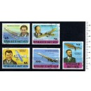 UPPER VOLTA 1977-3739 Aviation's history  5 stamps us cpl