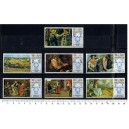 U.A.Q. 1967-142-48 Famous paintings  7 stamps MNG complete