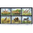 R.A.K. 1971-2227 African Animals - 6 stamps used complete set