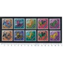 BHUTAN 1968-3386 Mitological Figures - 10 stamps ** complete set