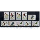 BHUTAN 1968-3387 Birds - 10 stamps ** complete set