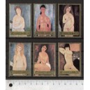FUJEIRA 1972-M1222-7 Modigliani's paintings 6 st. MNG complete s