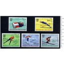 MALAGASY 1975-3505 Innsbruck's Oly Games - 5 stamps used complet