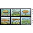 LIBERIA 1977-3769  Zeppelin - 6 stamps used complet