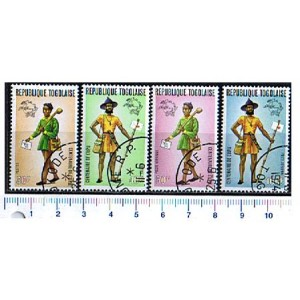 TOGO 1974-3022 Local Postman - 4 stamps used complete set