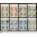 MONGOLIA 1960-3506 Flowers - block of 4 x 8 stamps us. complete