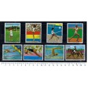 PARAGUAY 1976-3692 Montreal's Oly Games - 8 stamps used comple