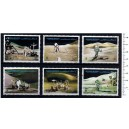 AJMAN 1971-3264 Moon's Exploration  6 stamps used complete set