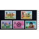 MAURITANIE 1977-3780 World Football Cup - 5 used stamps complete