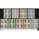 HUNGARY 1966-3571 Butterflies-flowers - block of 4 x 9 stamps u