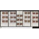 MOZAMBIQUE S-191 Local paintings - block of 6 x 5 values used