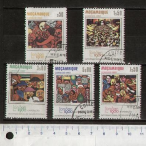 MOZAMBIQUE 687-691S-191 Local paintings - 5 values used