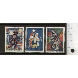 ITALY 1974-1377/79 Carnaval Masks - 3 values used complete set