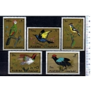 FUJEIRA 1971-744-744d Birds - 5 stamps mint complete set with out glue