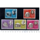 PARAGUAY 1967-3513 Art peoples 5 stamps MNG cpl.