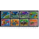PARAGUAY 1977-3693 Space missions 8 stamps used comple