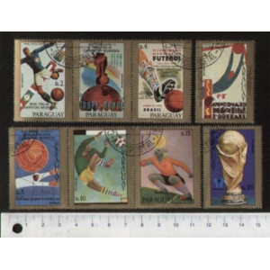 PARAGUAY 1977-3775 Championships  8 stamps used complete