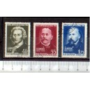 ROMANIA 1962-1850-52 D-411 Cultural anniversary - 3 stamps used complete set
