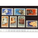 ROMANIA 1962-1889-95 D-414 Animals of Farm - 7 stamps used complete set