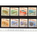 ROMANIA 1964-2001-08 D-420 Fishes - 8 stamps used complete set