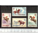 ROMANIA 1964-2009-2012 D-421 Horsessports - 4 stamps used complete set