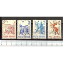 ROMANIA 1963-1937-40 D-417 Volley ball championship - 4 stamps used