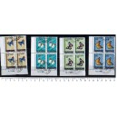 MAURITANIA 1966-3240 Butterflies - block of 4x4 stamps us. compl