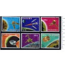 PANAMA 1969-PA-30 Space satellites - 6 stamps used complete set